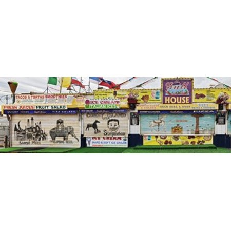 Old Store Front along Riegelmann Boardwalk Long Island Coney Island New York City New York State USA Canvas Art - Panoramic Images (36 x 12) for $<!---->