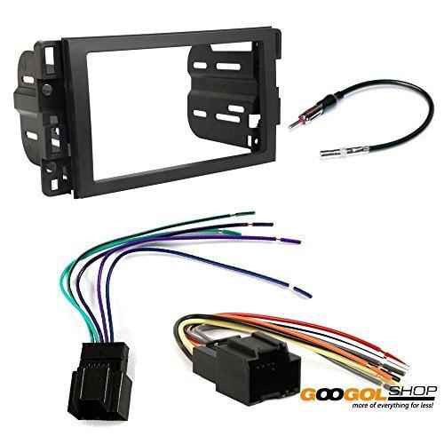 chevrolet 2007 - 2009 equinox car stereo dash install mounting kit wire harness radio antenna