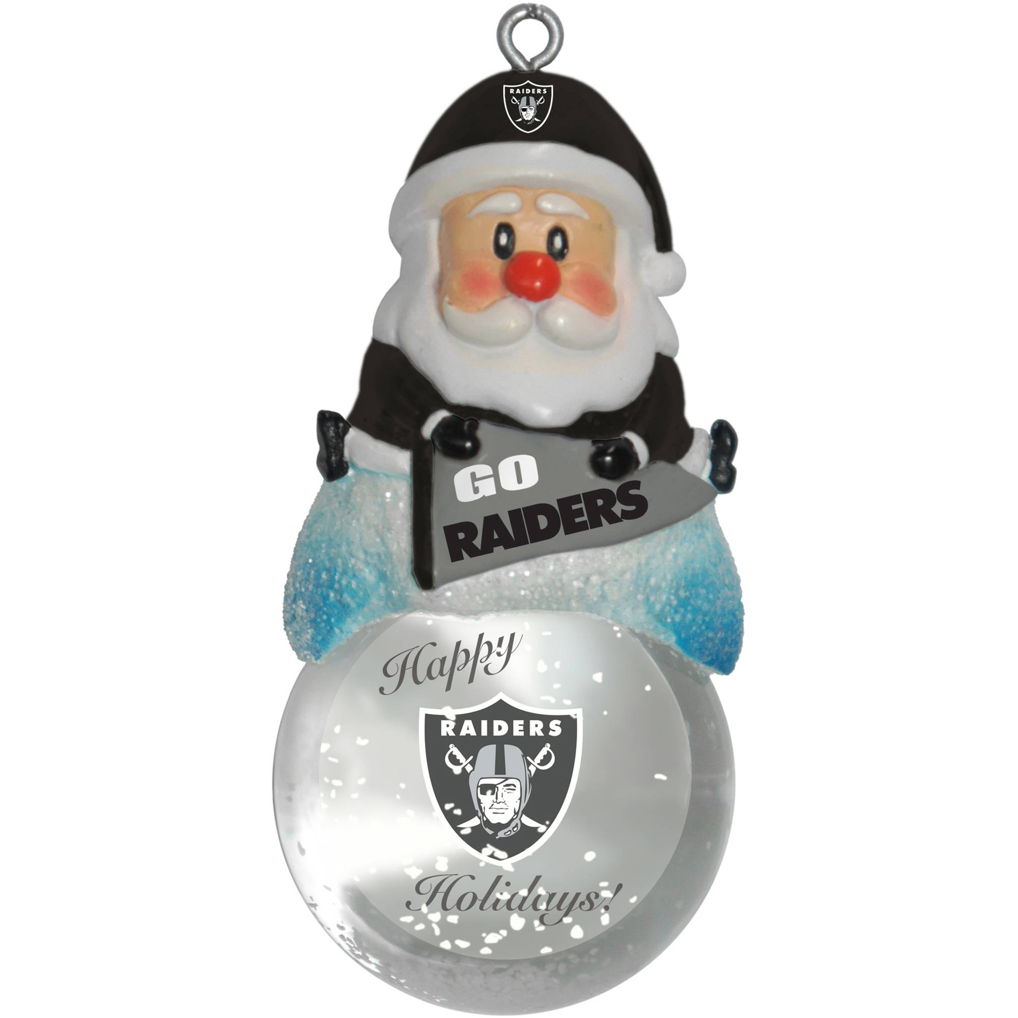 Topperscot by Boelter Brands NFL Santa Snow Globe Ornament, Oakland ...