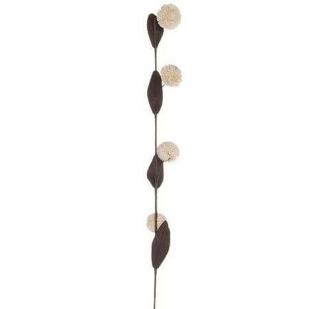 Creative Co Op Bamboo Hand Made Pom Pom Flower
