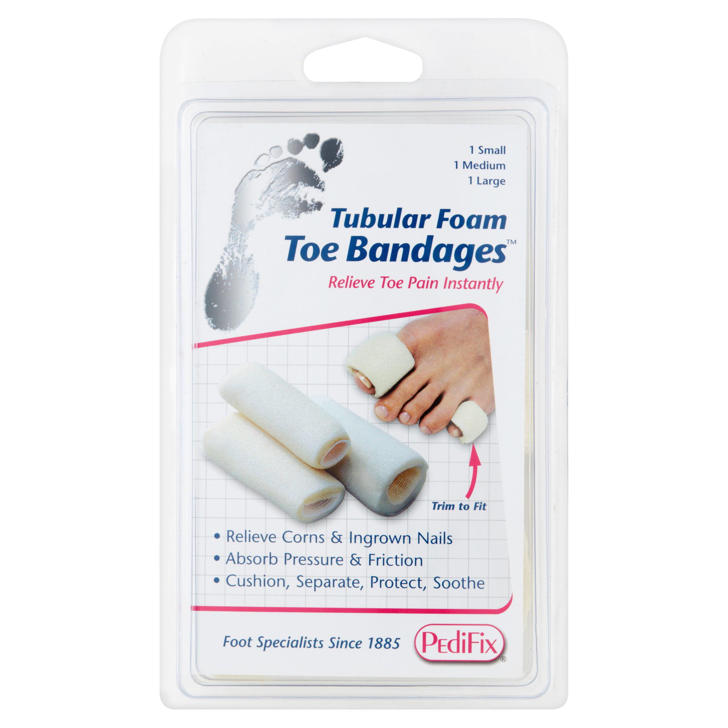 PediFix Tubular Foam Toe Bandages