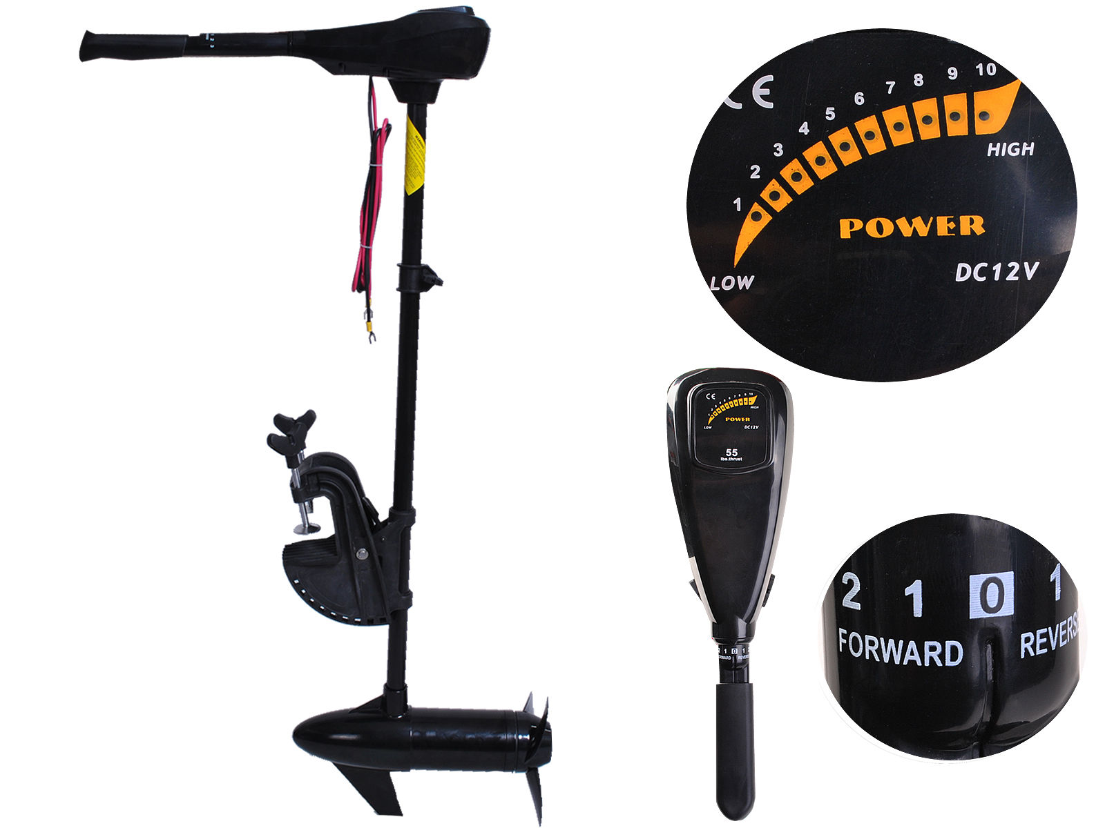 "Costway New 55lbs Freshwater Transom Mounted Trolling Motor 36"" Shaft by Costway"
