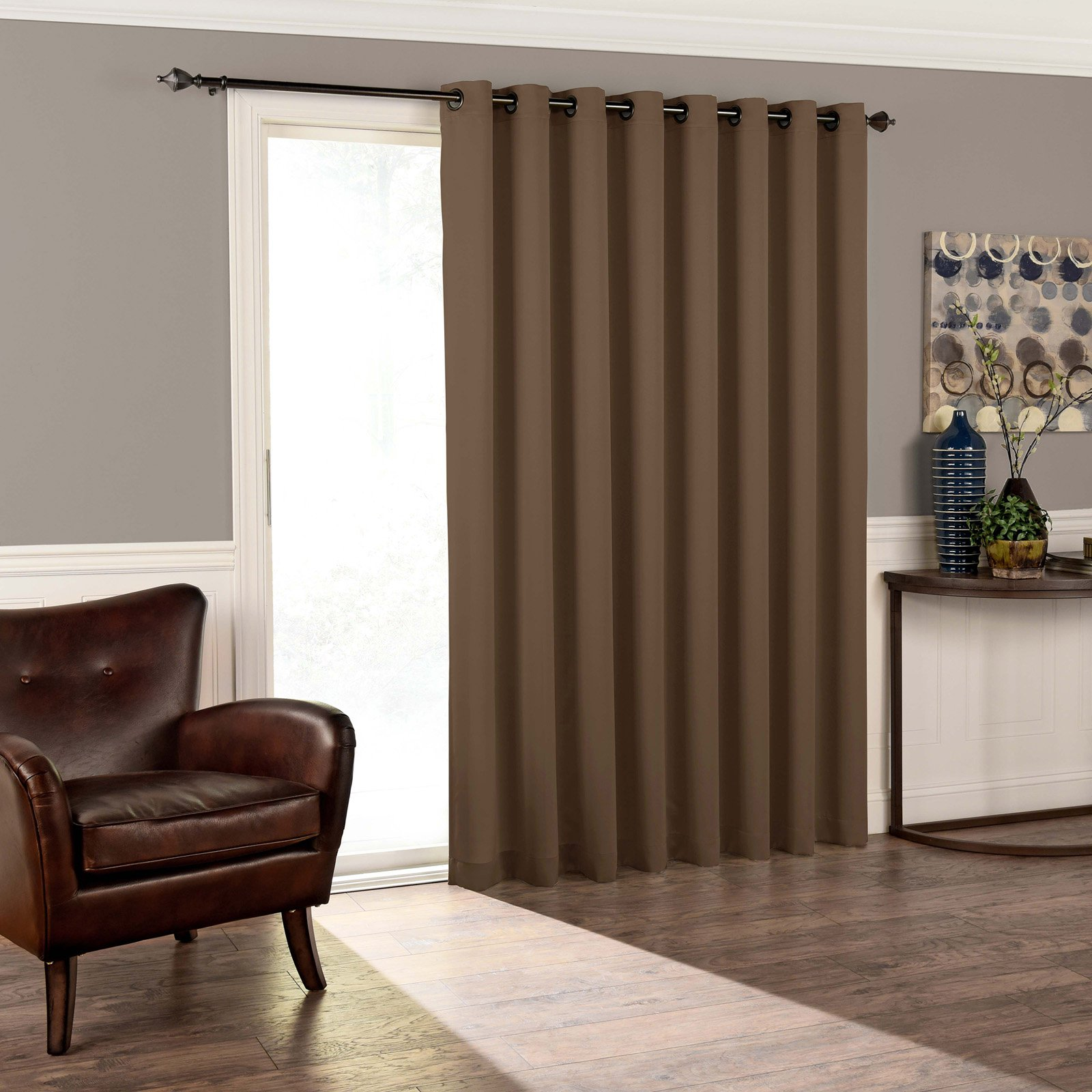 Eclipse Thermal Blackout Tricia Patio Door Window Curtain