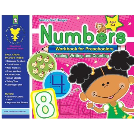 Snissy Snit Burger(tm) Numbers Workbook for Preschoolers - Halloween Art Lessons For Preschoolers