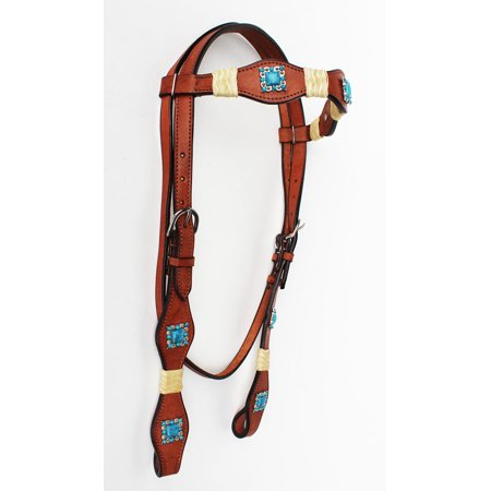 Horse Saddle Tack Bridle Western Leather Rawhide Rawhide Headstall  7878THB
