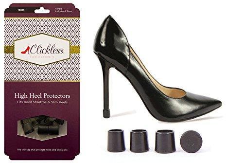 Black Clickless High Heel Protectors (4