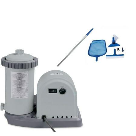 Intex 1500 GPH Pool Filter Pump with Timer & Intex Swimming Pool  Maintenance Kit