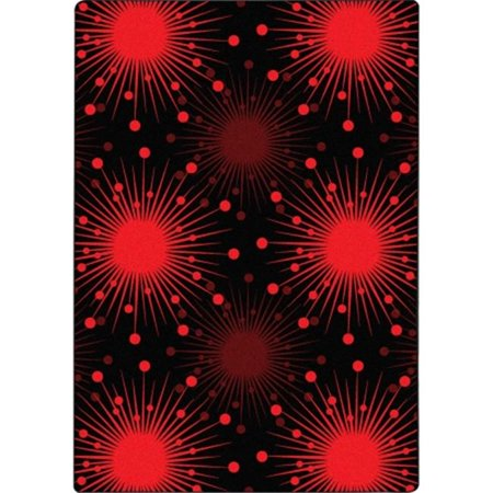 Kaleidoscope Cosmopolitan Rectangle Whimsical Area Rugs, 03 Red - 5 ft. 4 in. x 7 ft. 8 (7 Ft X 4-5 Ft Storage Shed)