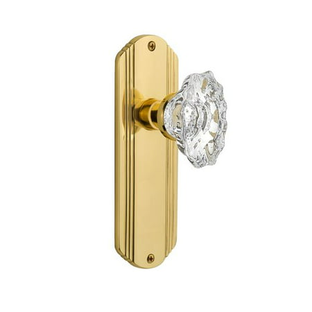 Nostalgic Warehouse Chateau Door Knob with Deco Plate