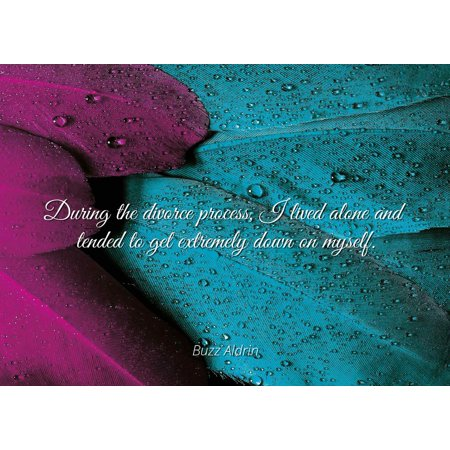 Buzz Aldrin - During the divorce process, I lived alone and tended to get extremely down on myself. - Famous Quotes Laminated POSTER PRINT 24X20. - Buzz Home Alone
