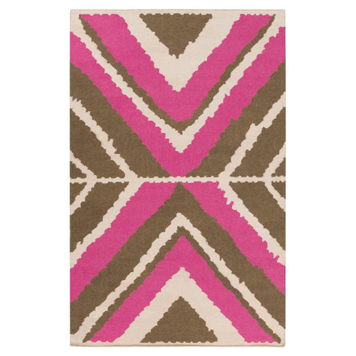 Beth Lacefield Alameda Ivory & Magenta Area Rug