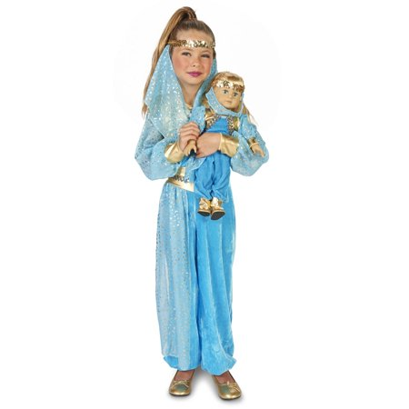 Mystic Genie Child Costume M (8-10) with Matching 18