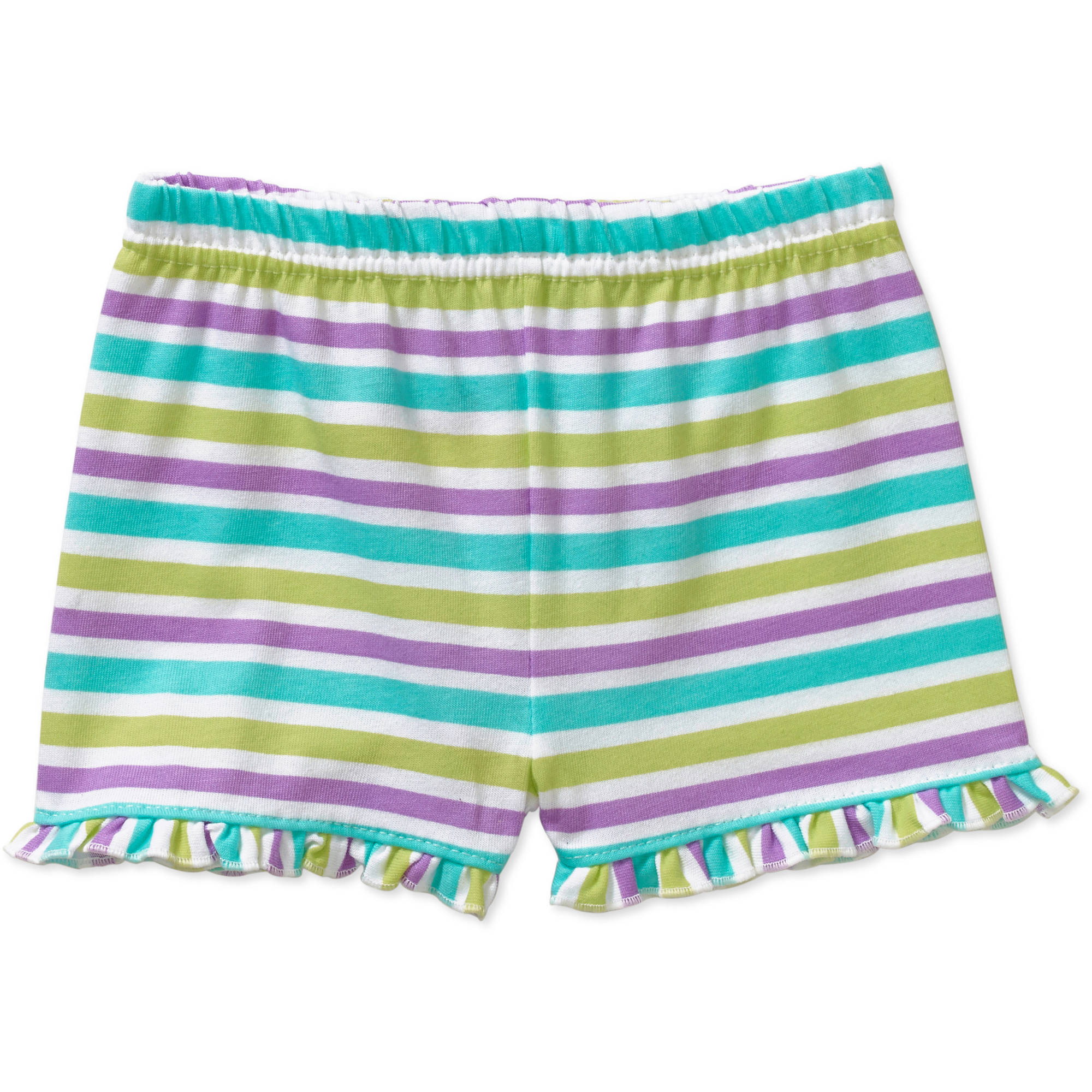 Garanimals Newborn Baby Girl Stripe Ruffle Shorts
