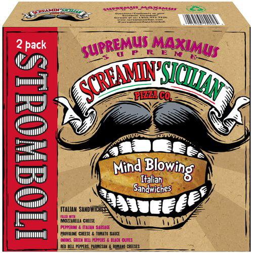 Screamin' Sicilian Pizza Co. Supremus Maximus Supreme Stromboli Sandwiches, 9.25 oz, 2 ct