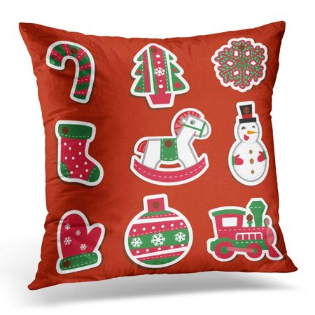 BSDHOME Green Christmas for Presentations All Pieces are Separate Orange Horse Pillows case 18x18 Inches Home Decor Sofa Cushion Cover - image 1 de 1