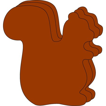 Large Single Color Creative Foam Cut-Outs - Squirrel