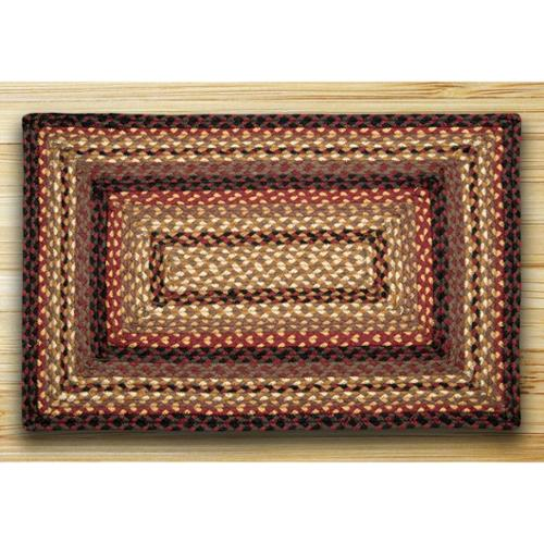 Earth Rugs RC-371 Black Cherry   Chocolate   Cream Rectangle Braided Rug 3 Feet x 5 Feet by Earth Rugs