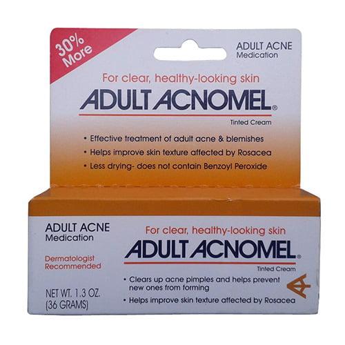 Acnomel Adult Acne Medication Tinted Cream - 1 Oz + 30% Free, 3 Pack