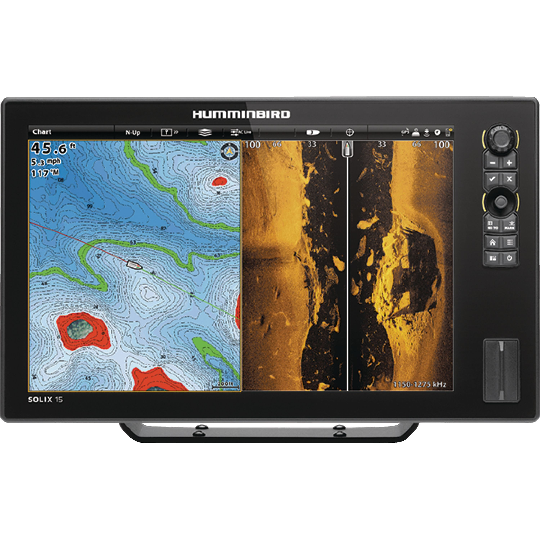 Humminbird 410420-1 SOLIX 15 CHIRP MEGA SI GPS Sonar Fishfinder & Chartplotter with MEGA Down & MEGA Side... by Johnson Outdoors