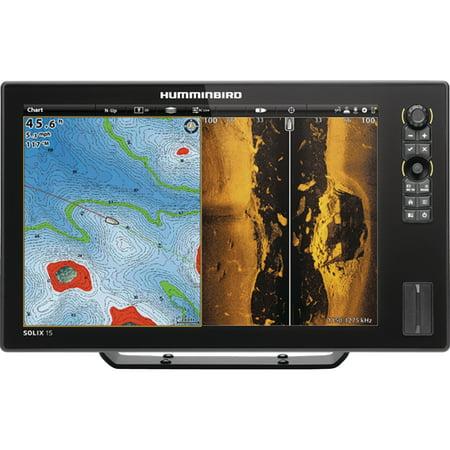 Chartplotter Charts - Humminbird 410420-1 SOLIX 15 CHIRP MEGA SI GPS Sonar Fishfinder & Chartplotter with MEGA Down & MEGA Side Imaging & 15.4