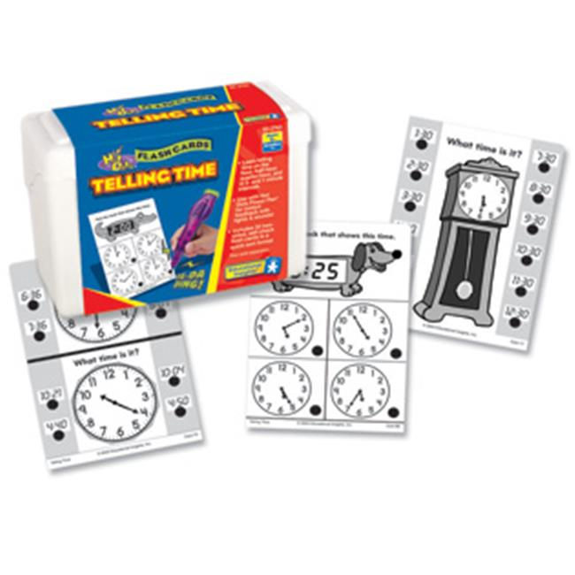 Educational Insights 2763 Hot Dots Math Flash Cards - Telling Time