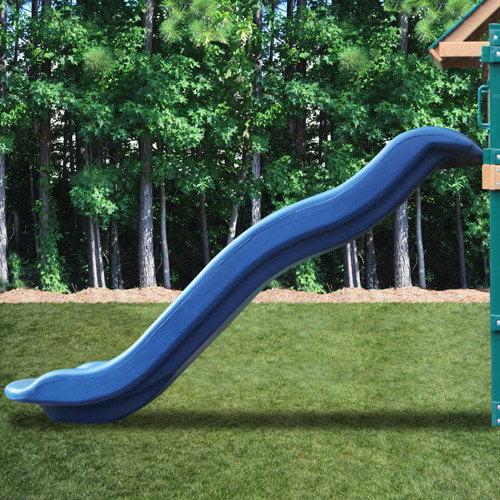 Kidwise Blue Rave Slide for 5' Deck Height - Slide Upgrade for Play Sets