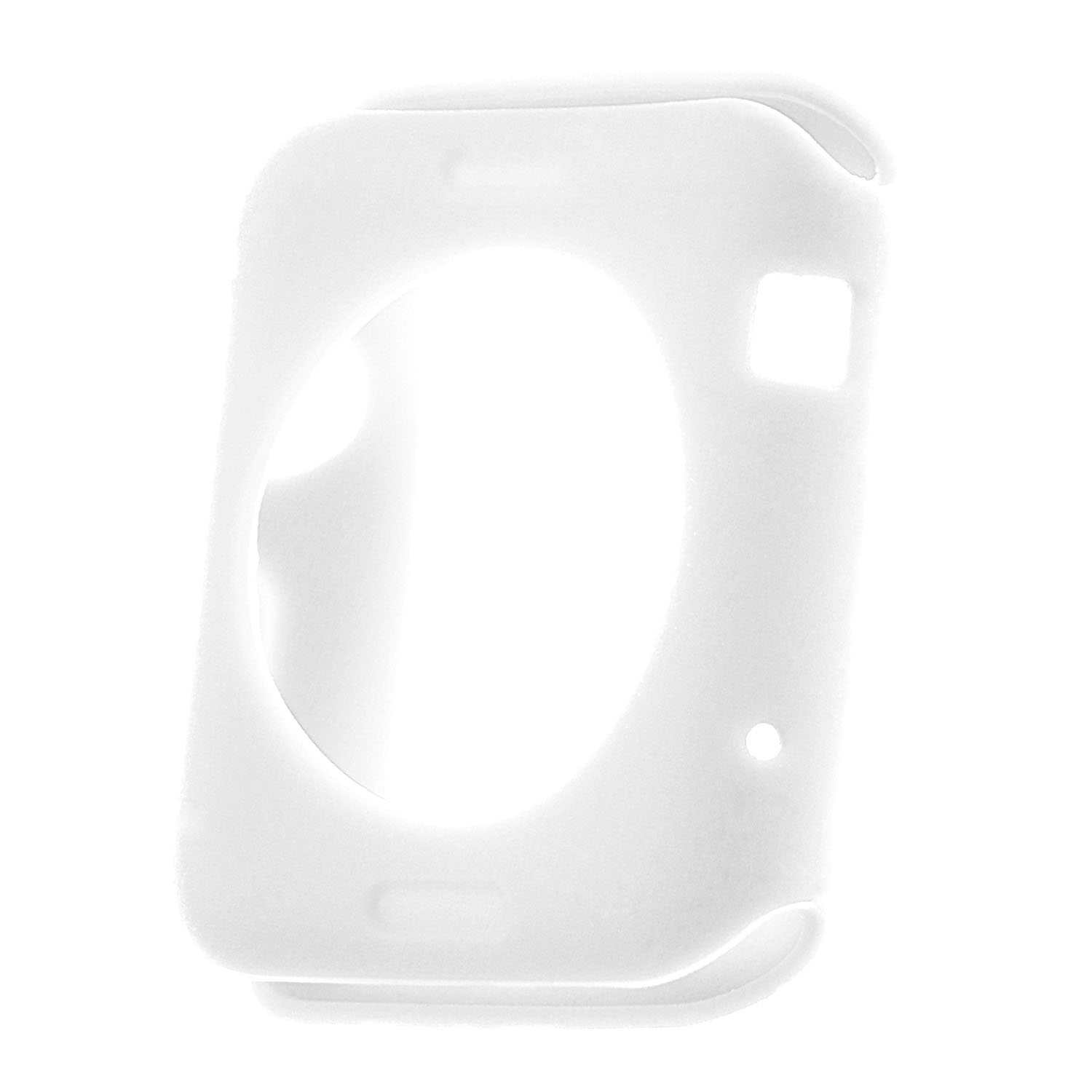StrapsCo Silicone Rubber Protective Case Cover for 38mm 42mm Apple Watch Series 1/2/3 - image 2 of 3