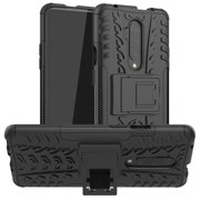 Heavy Duty Case For OnePlus 7T Pro,Dteck Shockproof Combo Hybrid Rugged Dual Layer Protective Case Cover with Kickstand For OnePlus 7T Pro, Black
