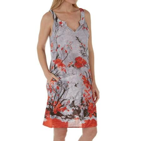 Women's La Cera 1061C 100% Cotton Japanese Garden Dress - La Catrina Dress