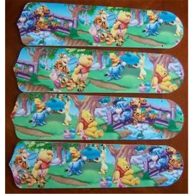 Ceiling Fan Designers 42SET-DIS-WPPET Winnie Pooh Piglet Eeyore Tigger 42 inch Ceiling Fan Blades Only