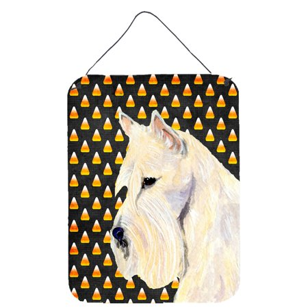 Scottish Terrier Wheaten Candy Corn Halloween Wall or Door Hanging Prints - Scottish Name For Halloween