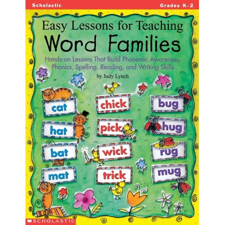 Easy Lessons for Teaching Word Families: Hands-On Lessons That Build Phonemic Awareness, Phonics, Spelling, Reading, and Writing Skills (Paperback) Phonemic Awareness Box
