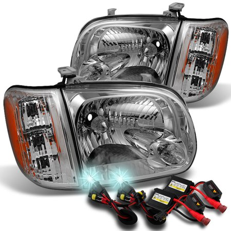 Fits 2005 2006 Toyota Tundra Double | Crew Cab Headlights Pair Set+ 8000K -