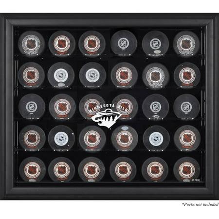 Mounted Memories 30 Hockey Puck Logo Display Case