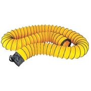 """ECKO Vent Duct,8""""Dia. x 25 ft,Ylw FDT-21624076BR"""