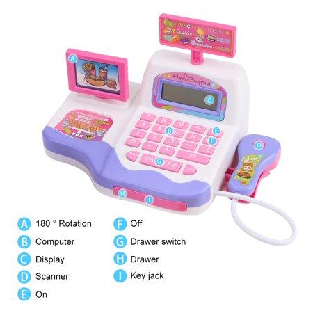 Christmas Present Scanner.Garosa Electronic Cash Register Kit Children Kids Early Educational Toy Christmas Gift Cash Register Toys Electronic Cash Register Toy
