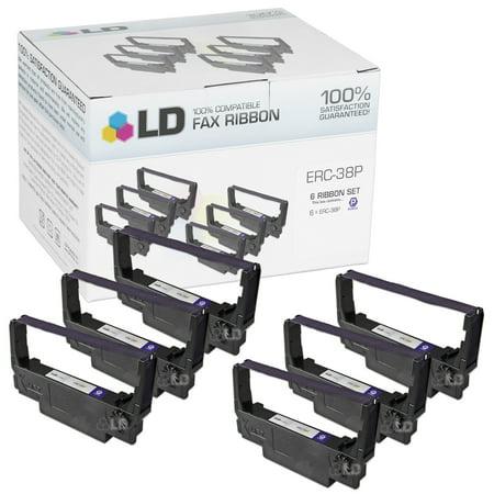 LD Compatible POS Ribbon Cartridge Replacement for Epson ERC-38P (Purple,