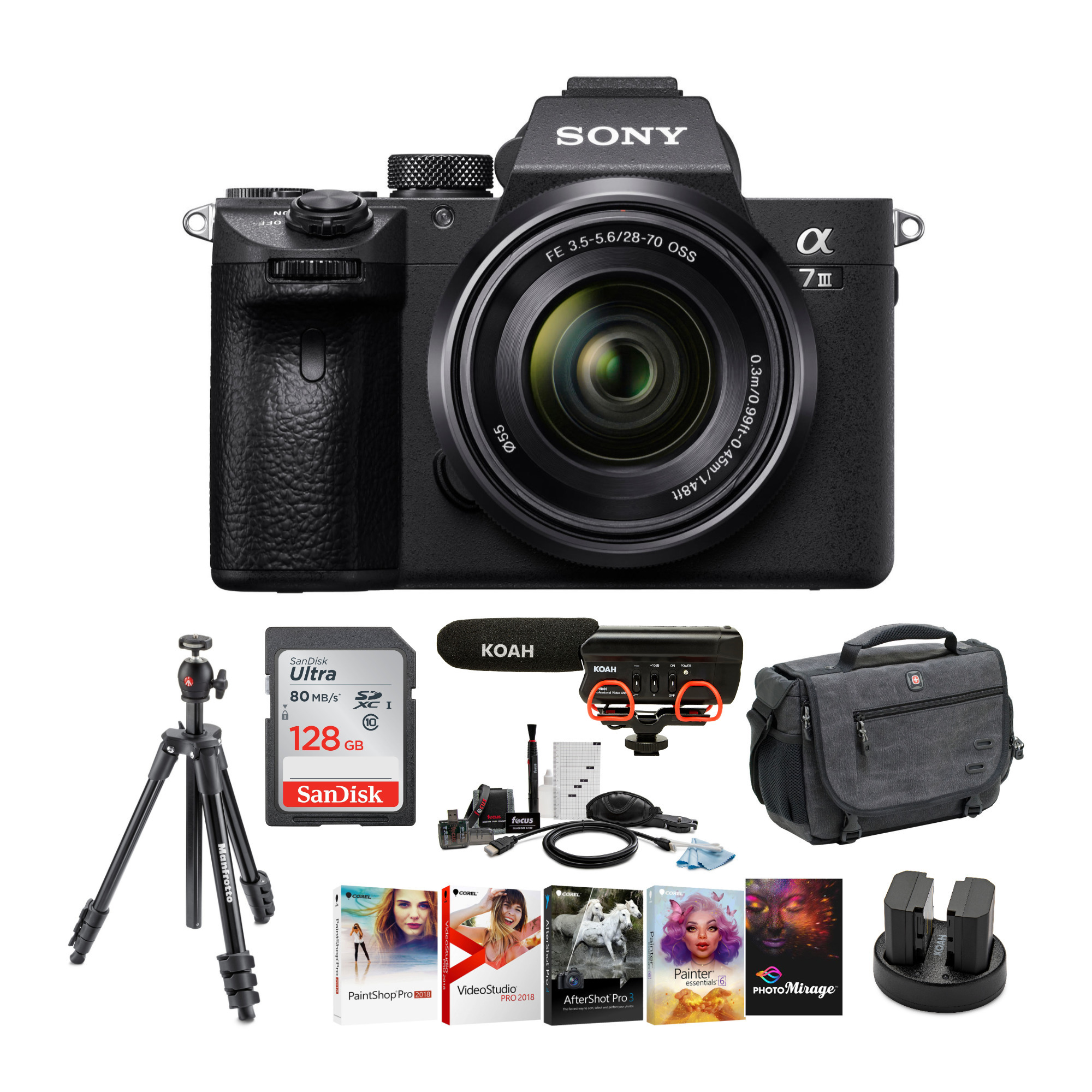 Sony Alpha a7iii Digital Camera with 28-70mm Lens and Accessory Bundle