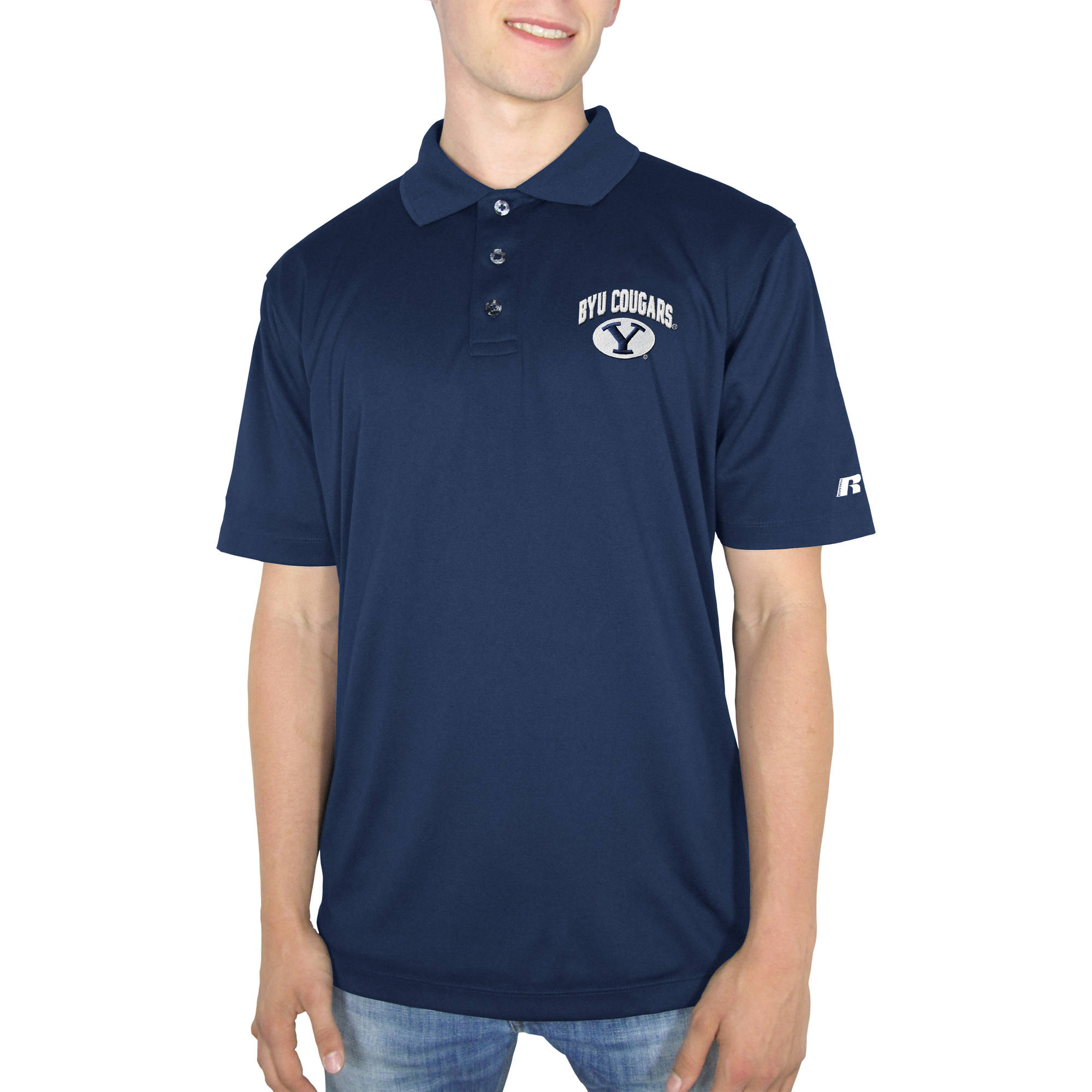 Russell NCAA BYU Cougars Men's Synthetic Polo
