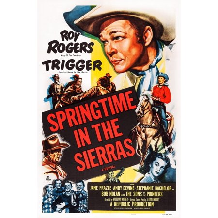 Springtime In The Sierras Us Poster Art Top Roy Rogers 1947 Movie Poster Masterprint
