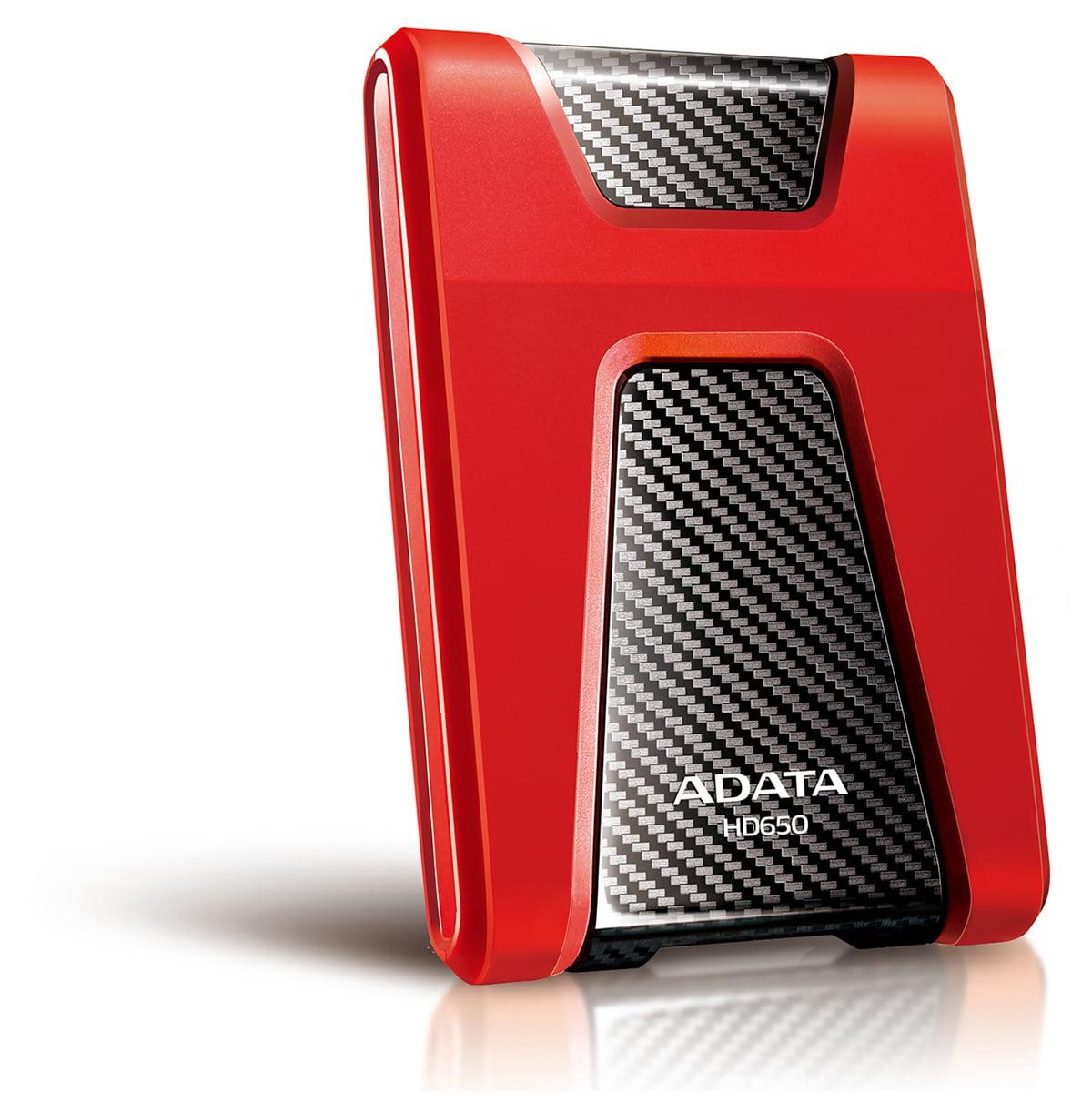1TB AData Red/Black HD650 DashDrive USB3.0 Portable Hard Drive