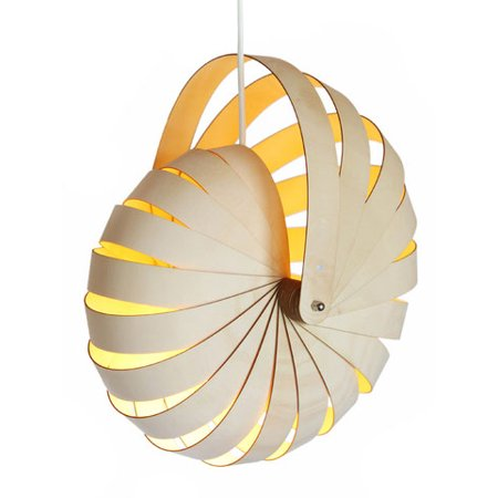 Reproduction Nautilus Shell Lamp Wooden Modern Light