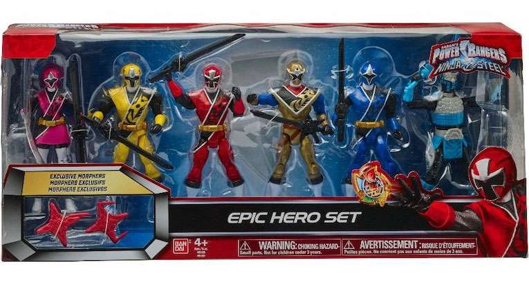 Power Rangers Ninja Steel Epic Hero Set Action Figure 6-Pack by