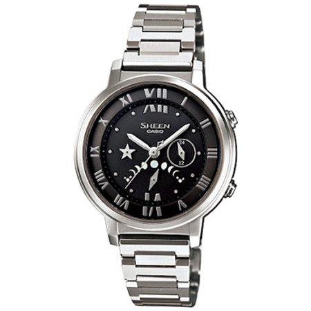 Casio Men's Sheen SHE3501SBD-1A Silver Stainless-Steel Quartz Fashion Watch