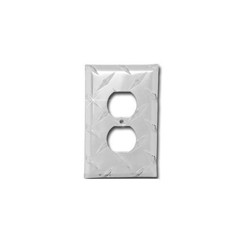 Diamond Life MC1OL. D Formula 1Wall Plate XL Single Outlet 5 H x 3. 25 W Diamond Plate
