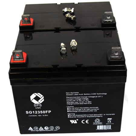 SPS Brand 12V 35Ah Replacement battery for Crown Crown Embassy 12CE35 (2 PACK)