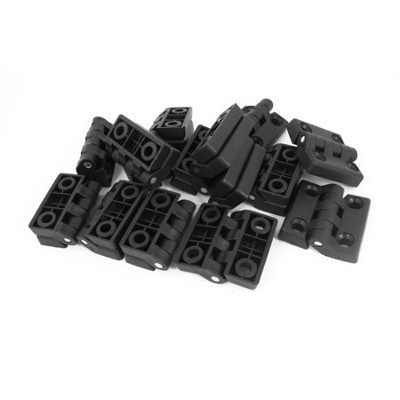 48mmx48mm Furniture Closet Cabinet Door Butt Plastic Hinge Black 15pcs - image 2 de 2