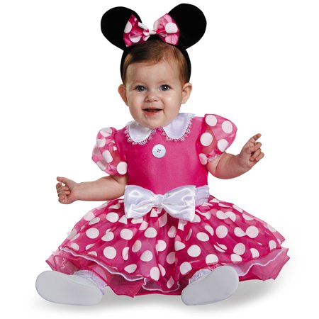 Infant Pink Minnie Mouse Prestige Costume by Disguise 85624 - Minnie Mouse Custume