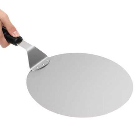 10 Inch Cake and Pizza Lifter, Stainless Steel Round Pizza Spatula Peel Shovel Turner Cake
