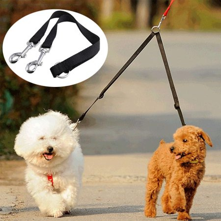 Dog Leash 2 in 1. No Tangle Dog Leash Coupler, Double Dog Walker - Trainer Leash - Two Dogs Adjustable Splitter Leash